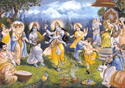 Traditional Rendering of Scene from the Mahabharata